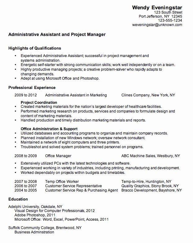 assistant project manager resume lovely bination sample for an administrative jobs free Resume Assistant Project Manager Resume