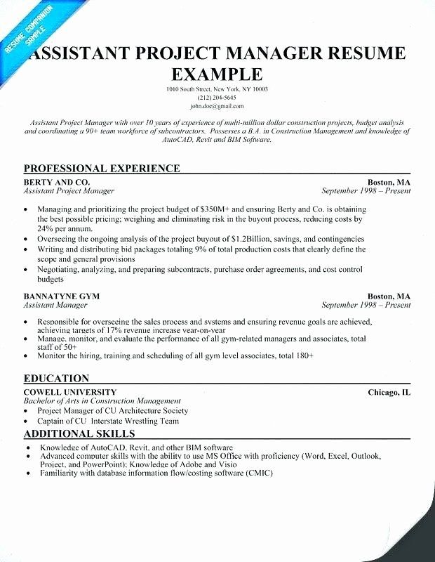 assistant project manager resume lovely construction guatemalago job samples free sample Resume Assistant Project Manager Resume