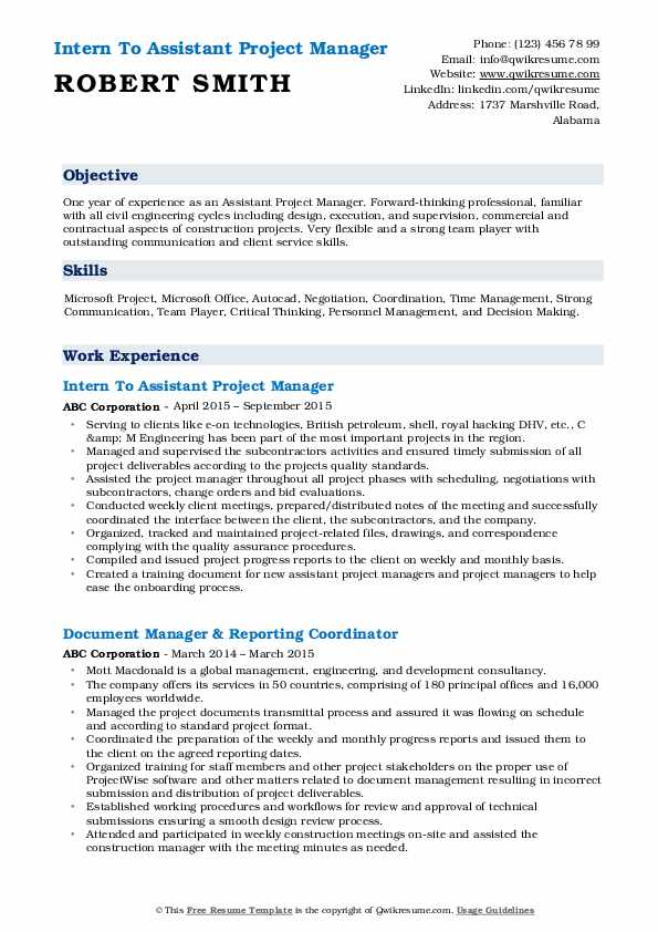 assistant project manager resume samples qwikresume pdf software account free modern Resume Assistant Project Manager Resume