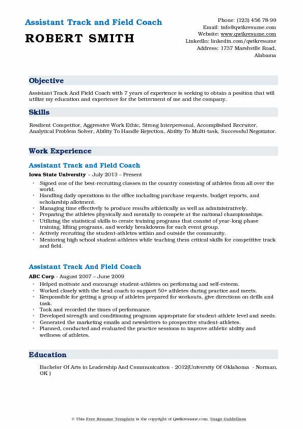 assistant track and field coach resume samples qwikresume example pdf examples insight Resume Track And Field Resume Example