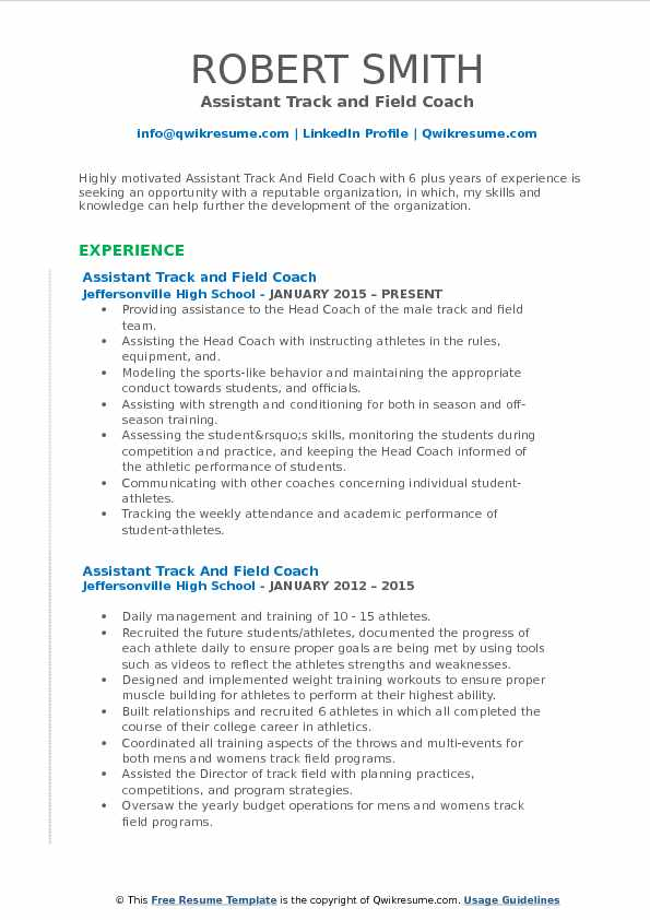 assistant track and field coach resume samples qwikresume example pdf hostess Resume Track And Field Resume Example
