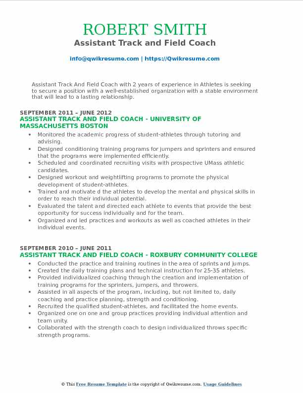 assistant track and field coach resume samples qwikresume example pdf medical records Resume Track And Field Resume Example