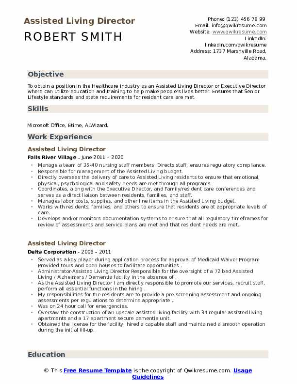 assisted living director resume samples qwikresume duties pdf summary or objective for Resume Assisted Living Duties Resume