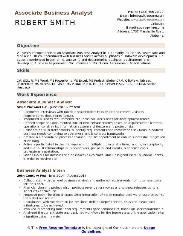 associate business analyst resume samples qwikresume template pdf latin word for Resume Business Analyst Resume Template