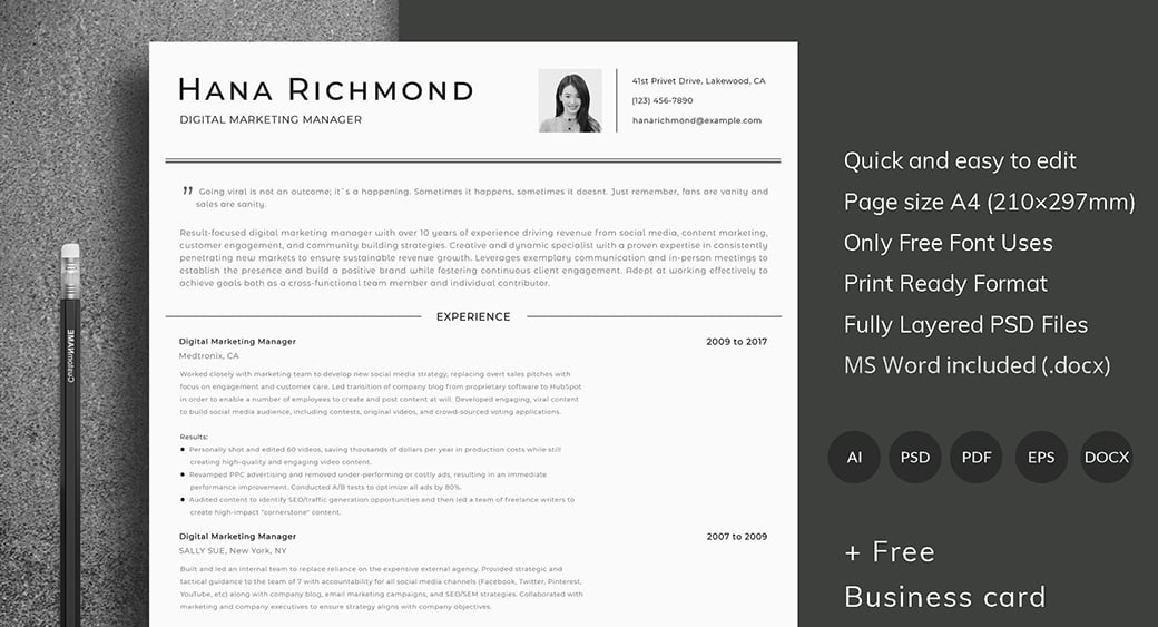 ats friendly resume template format guide sample cv templates free preview best font size Resume Free Resume Templates Ats Friendly