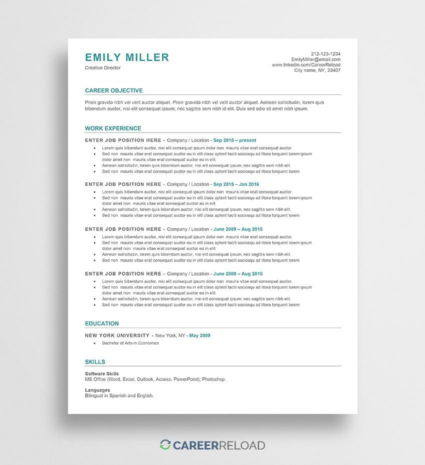 ats friendly resume template free word functional microsoft accounting clerk objective Resume Ats Friendly Resume Template Free