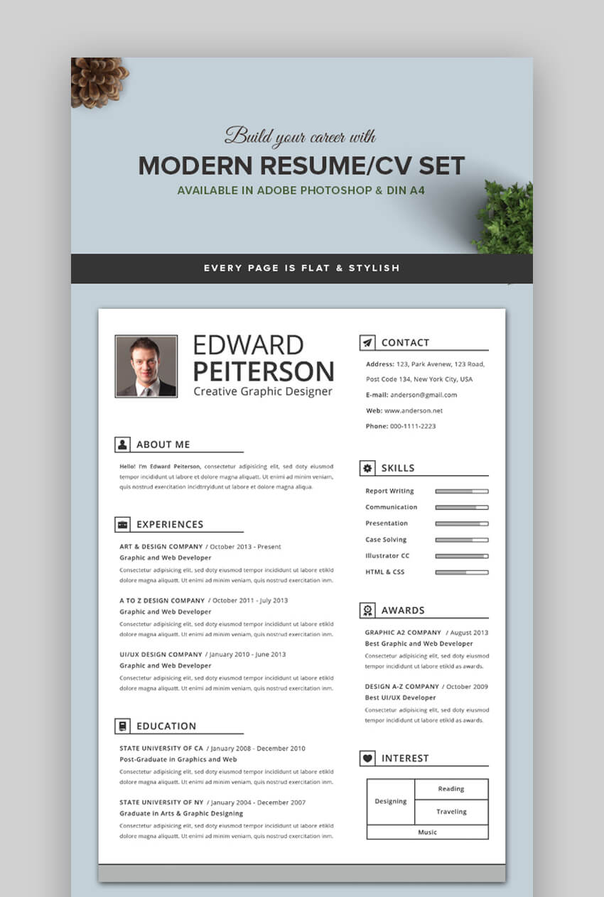 attractive eye catching resume cv templates with stylish aesthetics good looking format Resume Good Looking Resume Format