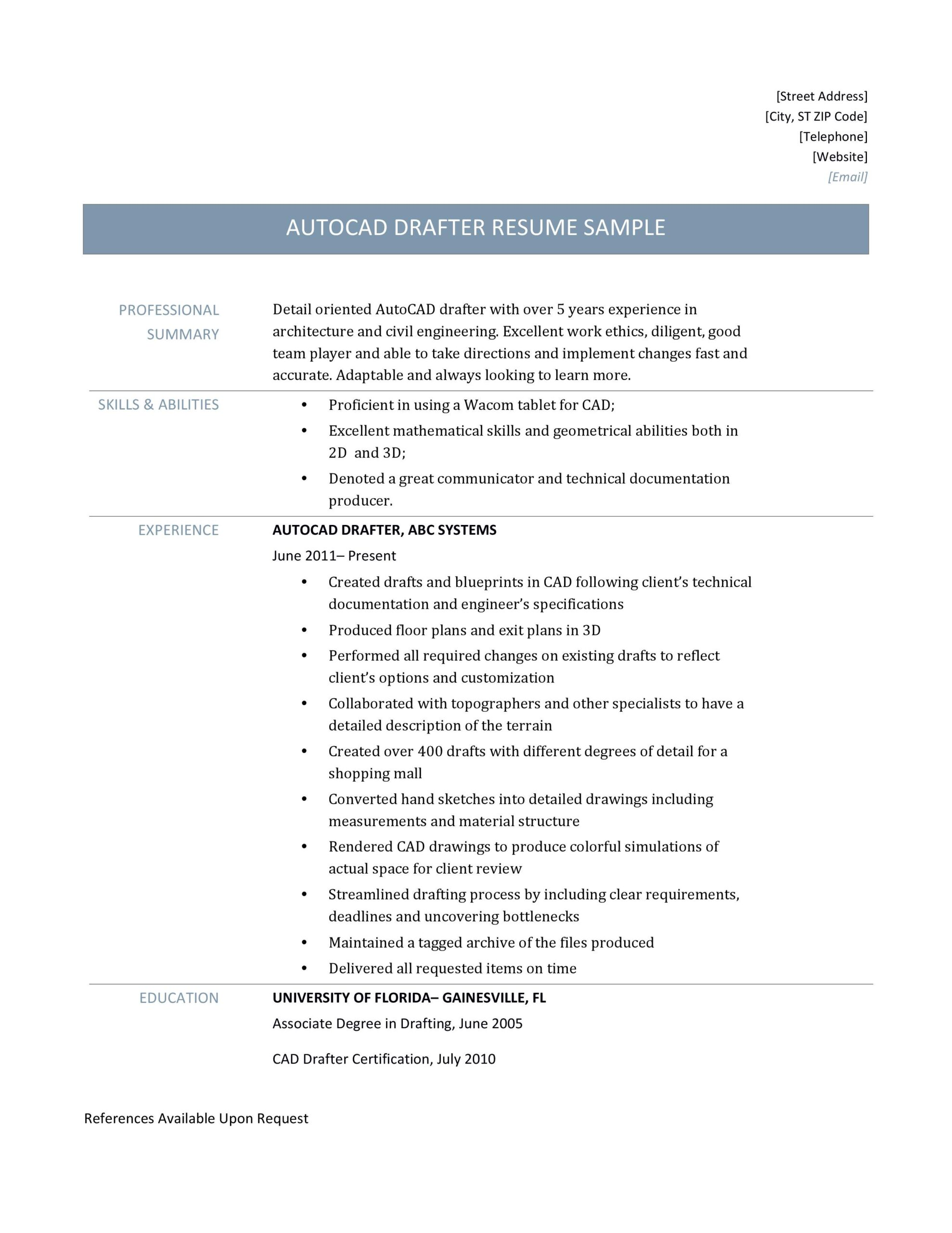 autocad drafter resume sample and job description by builders medium template j2pkzgo0yb Resume Autocad Resume Template