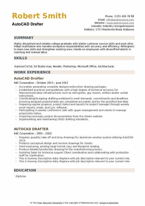 autocad drafter resume samples qwikresume template pdf wholesaler program facilitator Resume Autocad Resume Template