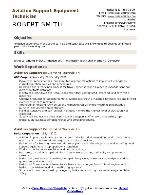 aviation support equipment technician resume samples qwikresume writing service pdf Resume Aviation Resume Writing Service