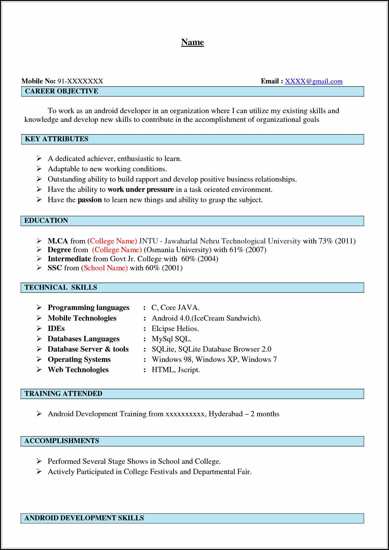 awesome artistic android developer resume that carry the job free template word examples Resume Free Resume Templates For Android