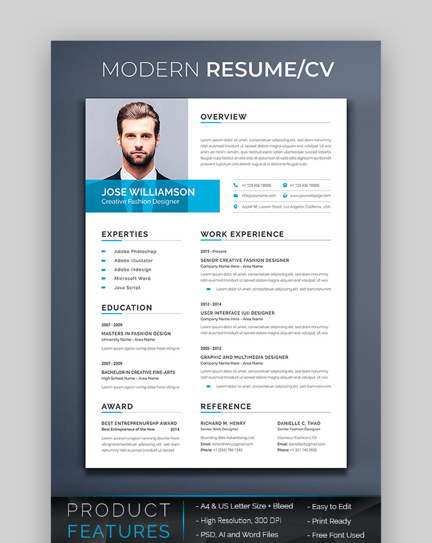 awesome resume cv templates with beautiful layout designs best looking graphicriver Resume Best Looking Resume Templates