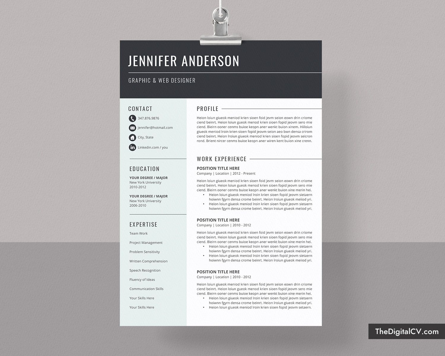 basic and simple resume template cv cover letter microsoft word free professional the Resume The Best Resume 2020