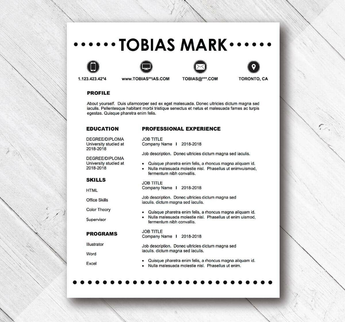 basic and simple resume template examples easy professional templates writing business Resume Easy Professional Resume Template