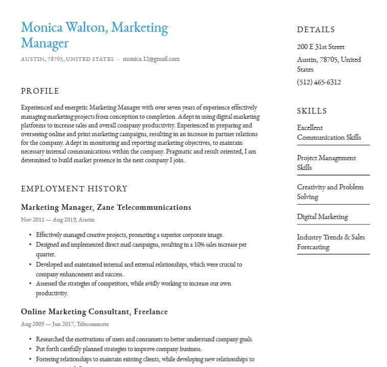 basic or simple resume templates word pdf for free professional template best examples Resume Professional Simple Resume Template