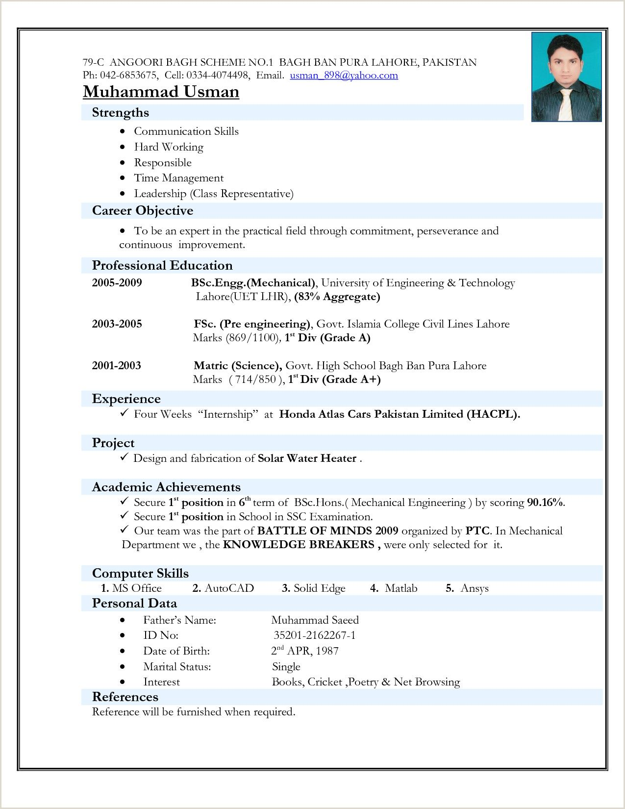 basic resume format for freshers best examples juventus ajax free cover letter related Resume Resume Format For Freshers