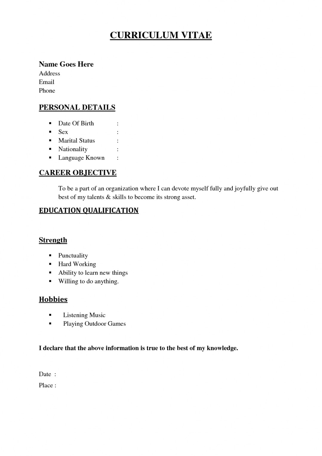 basic resume sample by vi to write for job template builder example simple examples Resume Simple Full Resume Format