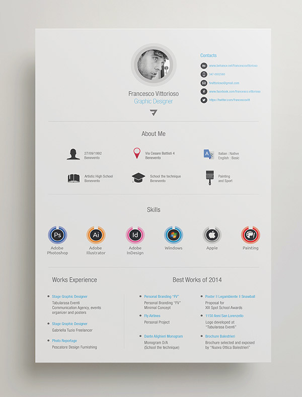 beautiful free resume cv templates in indesign formats for adobe personal layout college Resume Resume Templates For Adobe Indesign
