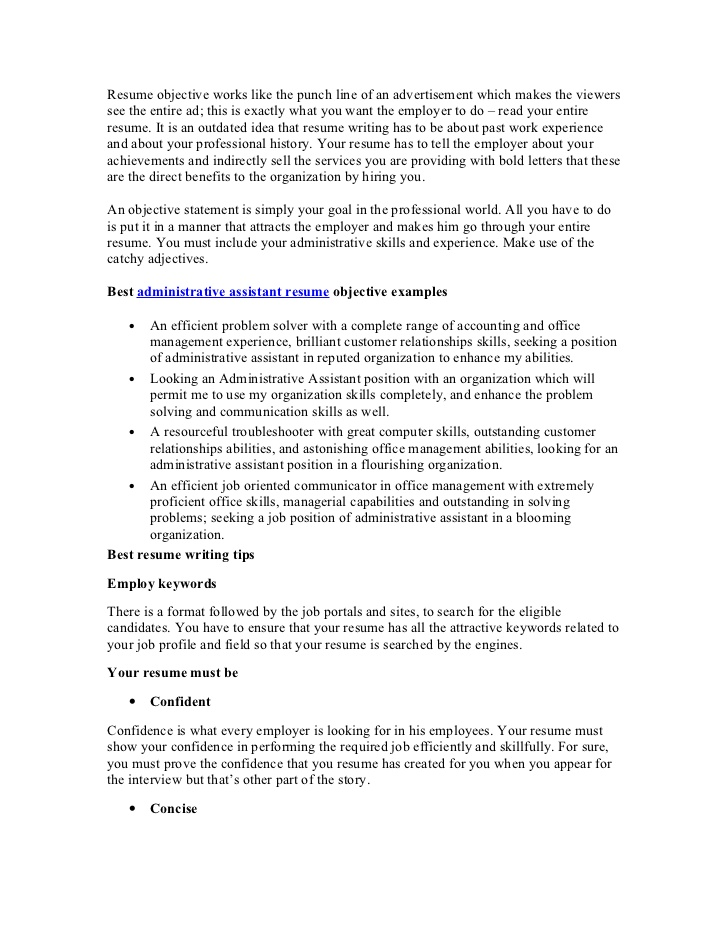 best administrative assistant resume objective article1 office work for sample recent Resume Office Work Objective For Resume
