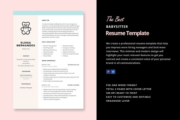 best babysitter resume sample templates wisestep nanny samples free template parser ats Resume Nanny Resume Samples Free