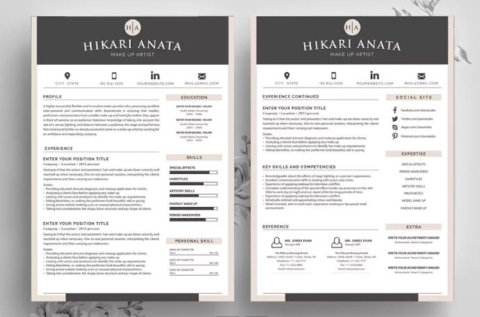 best contemporary resume cv templates new modern styles for in fin simple template anata Resume Best Resume In 2020