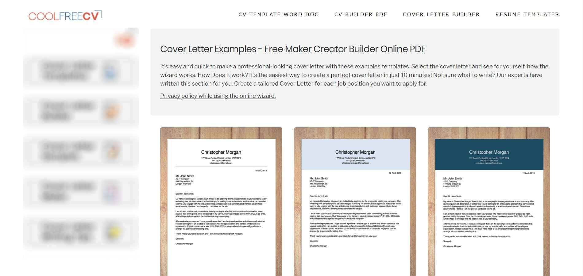 best cover letter builders in reviews and features priwoo free resume builder cool cv Resume Free Resume And Cover Letter Builder