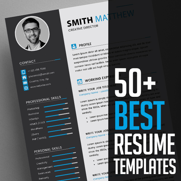 best cv resume templates design graphic junction the fax cover letter template hotel Resume The Best Resume 2020