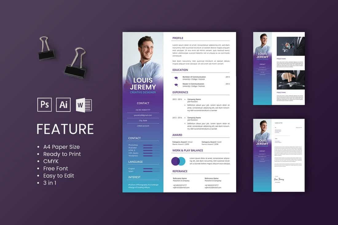 best cv resume templates design shack professional and creative louis template linkedin Resume Professional And Creative Resume Templates