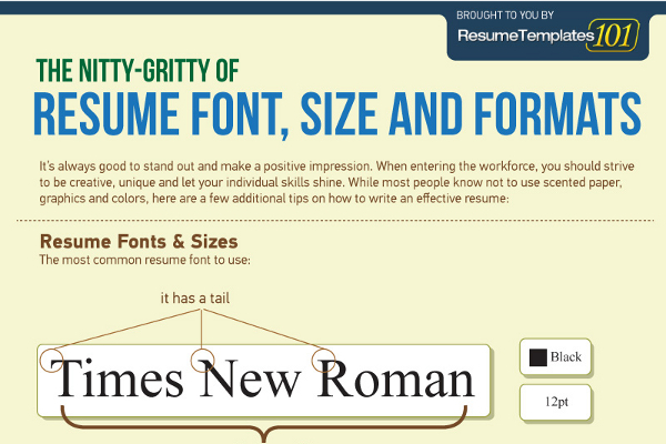 best fonts and proper font size for resumes brandongaille standard of resume paper Resume Standard Size Of Resume Paper
