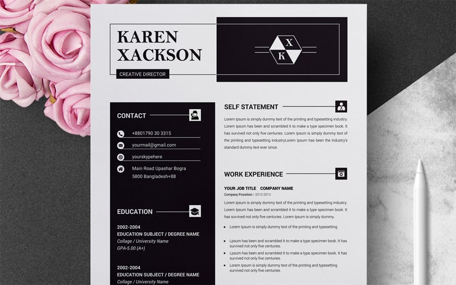 best free printable resume templates professional and creative clean template dental Resume Professional And Creative Resume Templates