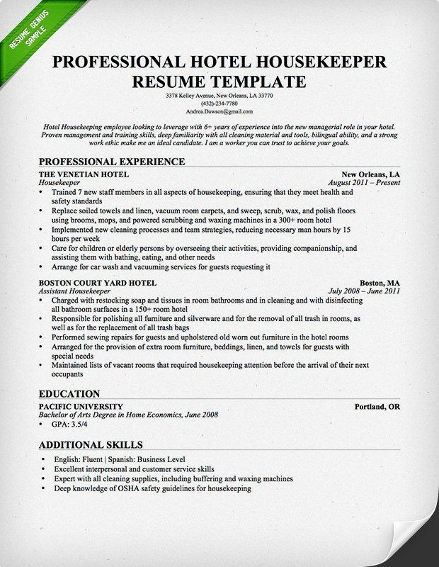 best free resume samples ideas examples housekeeping template home health aide job Resume Housekeeping Resume Template Free