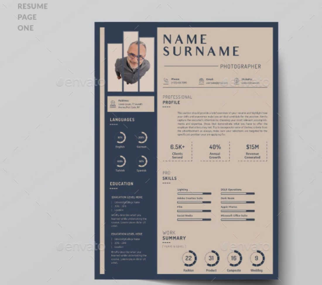 best free resume templates in and colorlib photographer template internal job dsp skills Resume Photographer Resume Template Free