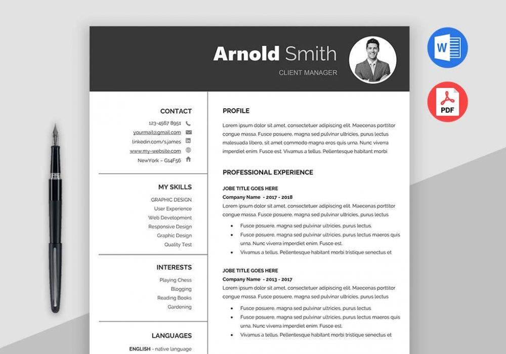 best free resume templates of pdf classic template ms word technical examples barista Resume Free Resume Templates Pdf