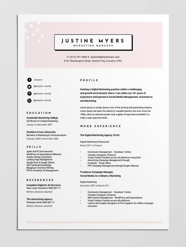 best free resume templates tips on to stand out easil looking personal brand template Resume Best Looking Resume Templates