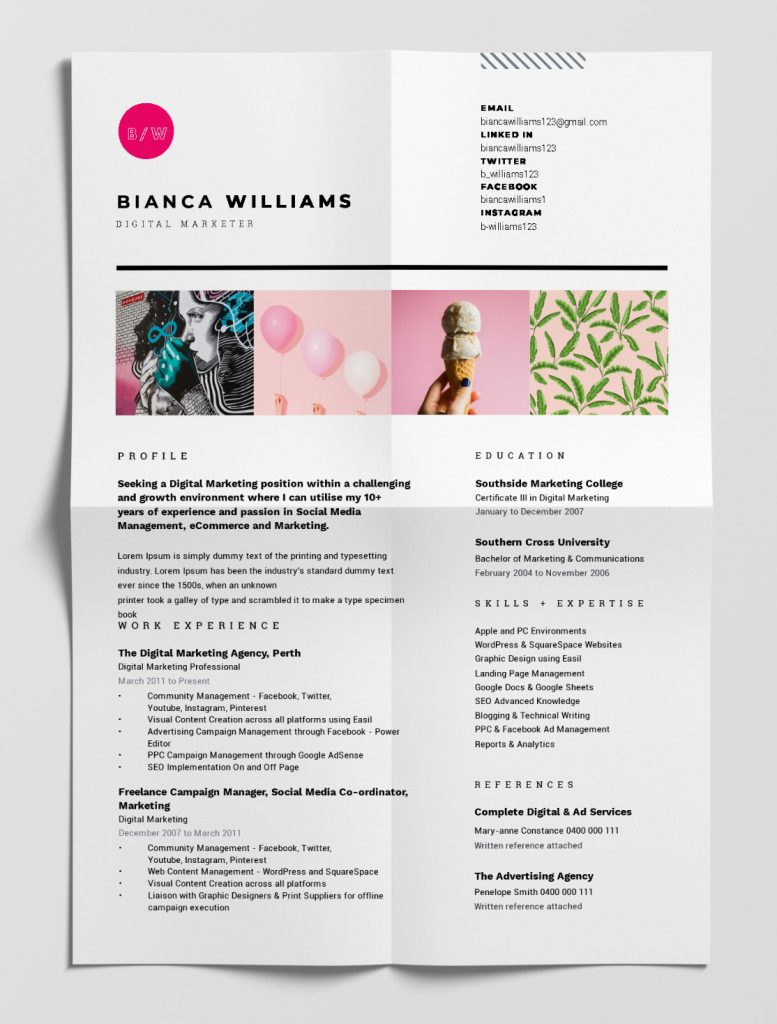 best free resume templates tips on to stand out easil that portfolio template 777x1024 Resume Resume Templates That Stand Out