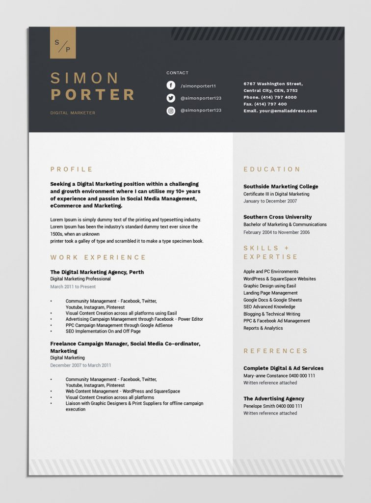 best free resume templates tips on to stand out easil that template design elements Resume Resume Templates That Stand Out