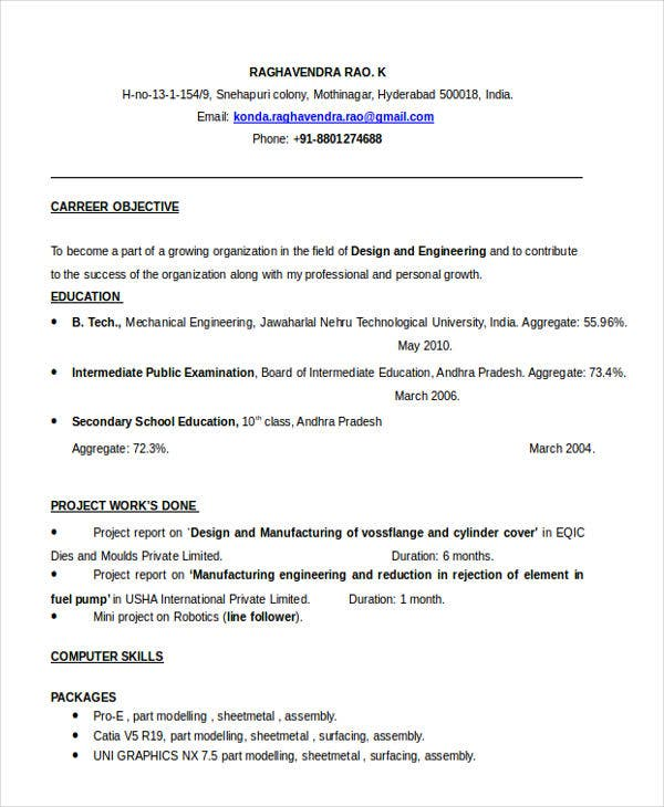 best fresher resume templates pdf free premium title examples for freshers engineering Resume Best Resume Title Examples For Freshers