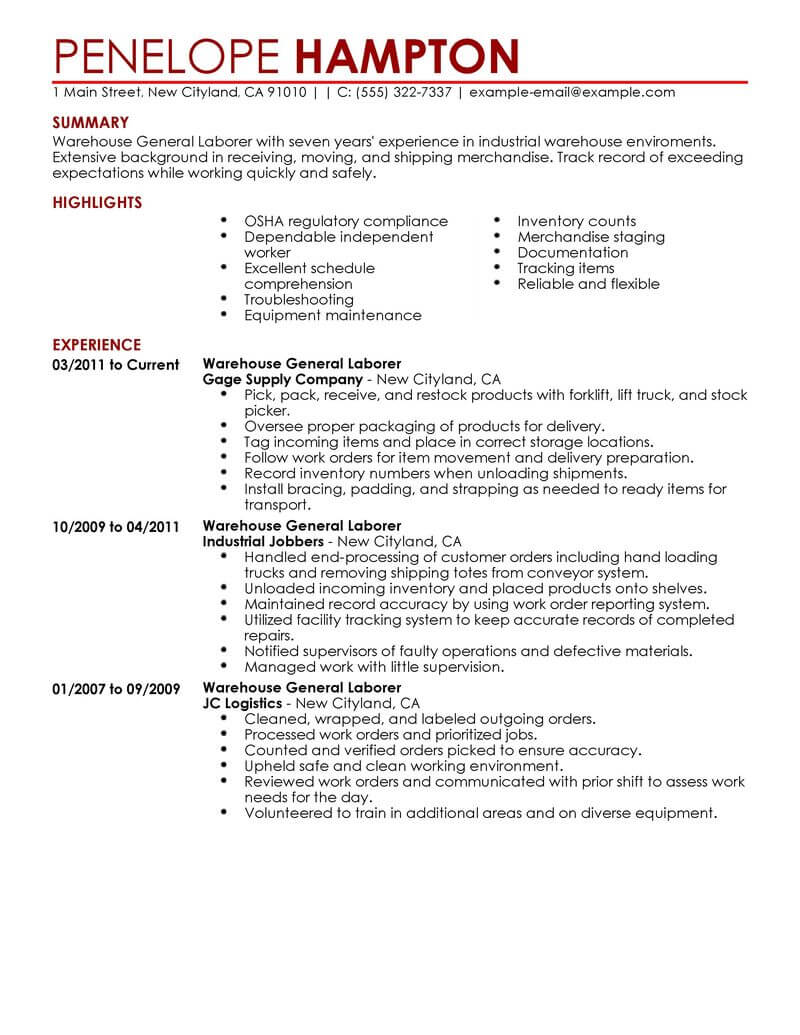 best general labor resume example livecareer examples production contemporary most Resume General Labor Resume Examples
