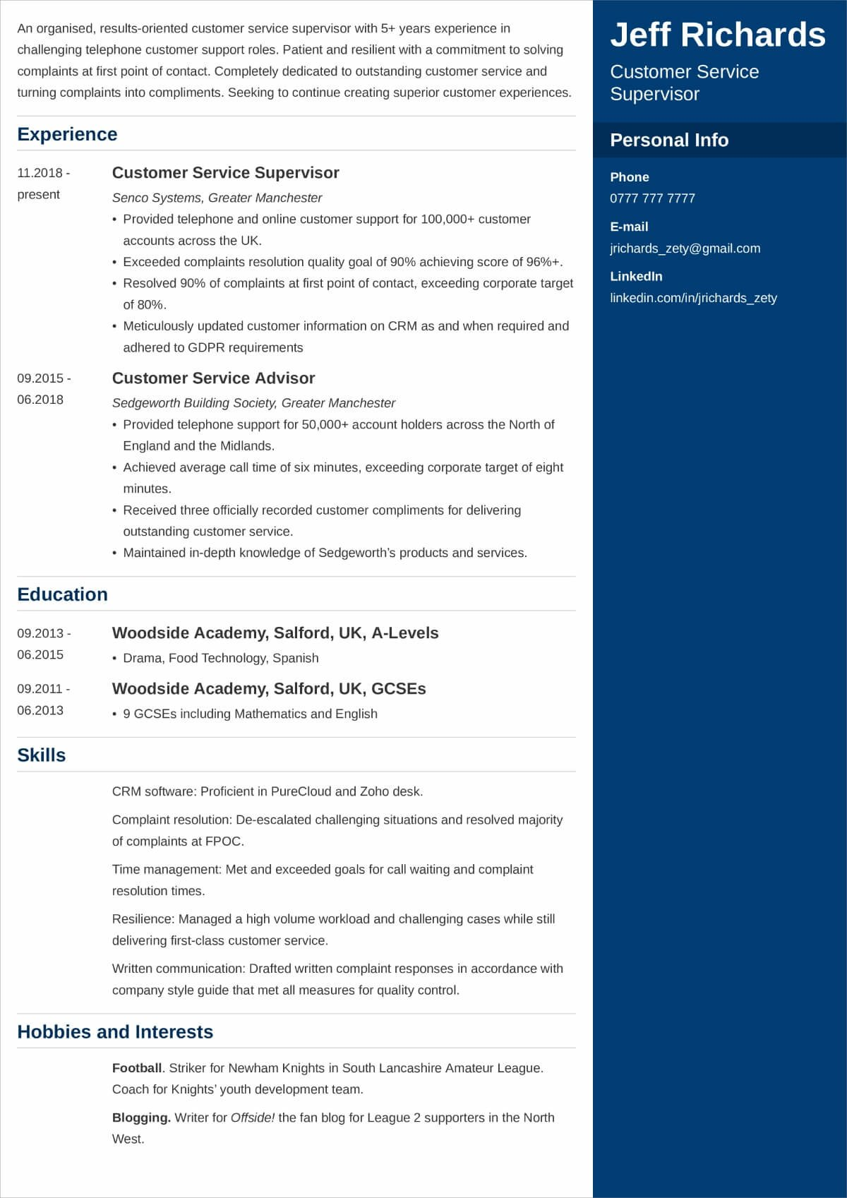 best hobbies and interests to put on cv examples for should you personal resume computer Resume Should You Put Personal Interests On Resume