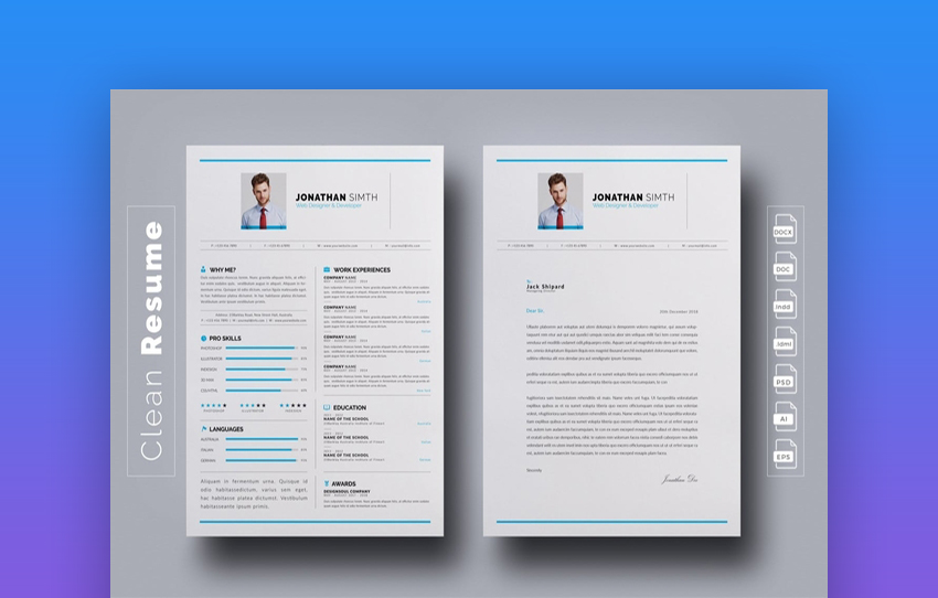 best indesign resume templates free pro cv downloads template elements objective for loss Resume Indesign Resume Template