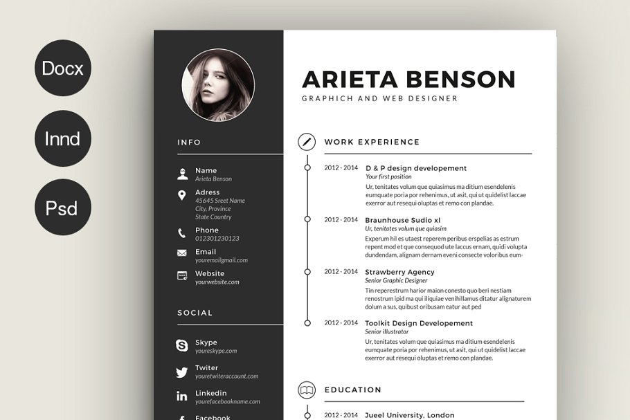 best indesign resume templates illustrator template template6 account executive examples Resume Indesign Resume Template