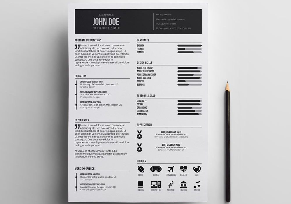 best indesign simple resume template maxresumes free minimal 1000x700 federal writers Resume Indesign Resume Template