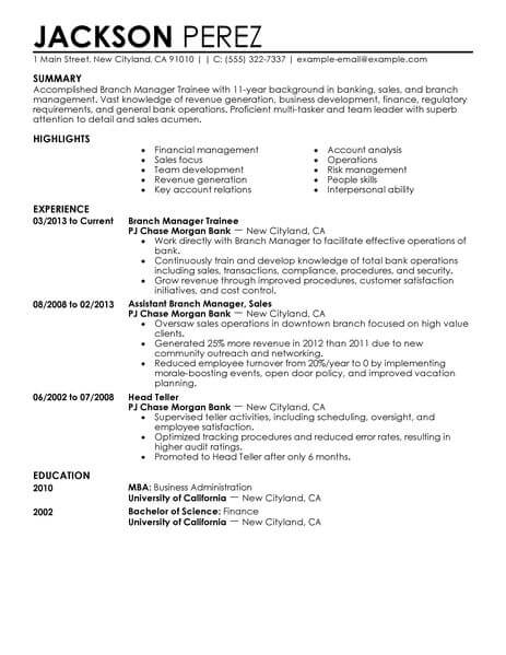 best manager trainee resume example livecareer format for management customer service Resume Resume Format For Management Trainee
