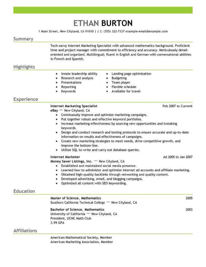 best marketer and social media resume example from professional writing service for job Resume Resume For Media Job