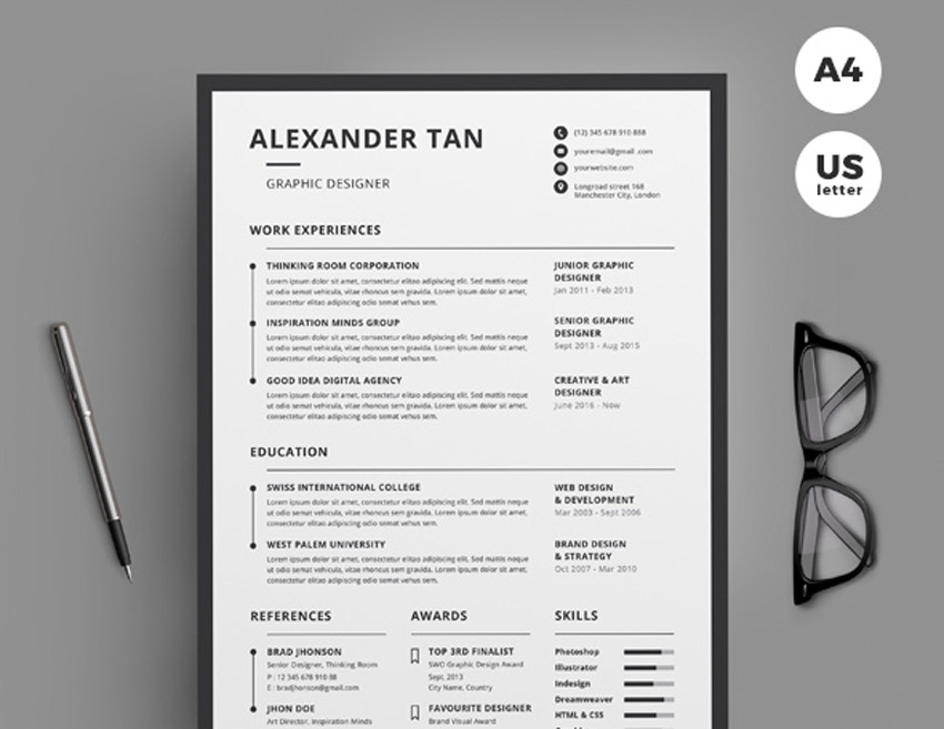 best of stylish professional cv resume templates looking 2017cv9 skills for tourism Resume Professional Looking Resume