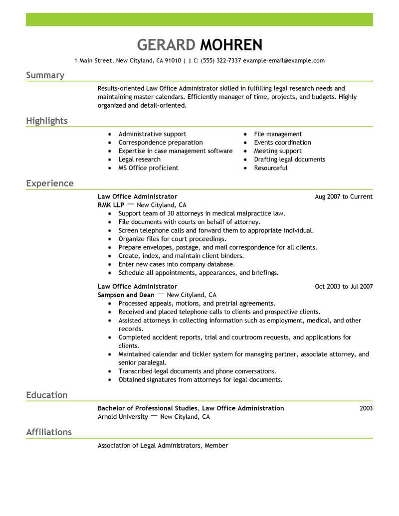 best office administrator resume example livecareer church legal emphasis executive Resume Church Office Administrator Resume