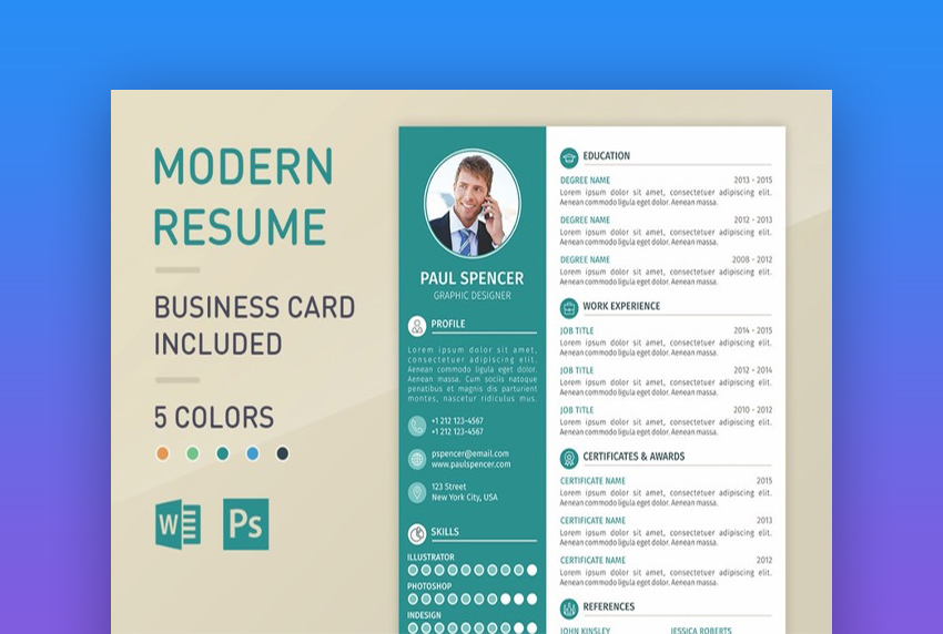 best one resume templates simple to use format examples single modernresume words from Resume Single Page Resume Format