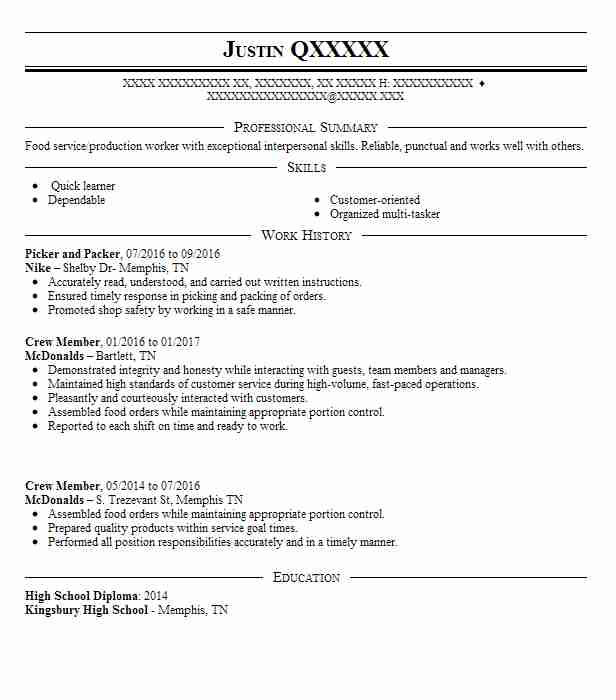 best picker and packer resume example livecareer job description for claims assistant cfo Resume Picker Packer Job Description For Resume