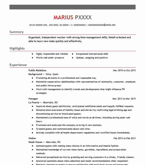 best public relations resume example livecareer student better service additional Resume Public Relations Student Resume