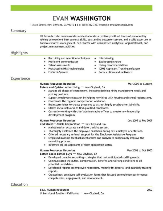 best recruiting and employment resume example livecareer job application seeker sample Resume Example Of Resume To Apply Job